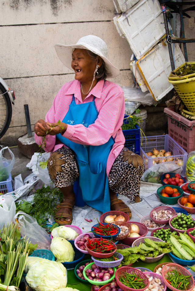 BANGKOK, THAILAND: Market Seller 1, Bangkok from Majawi Images