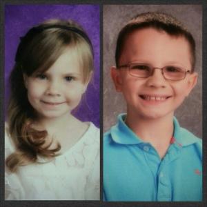 Tristan & Adrianna school pics Oct 2013